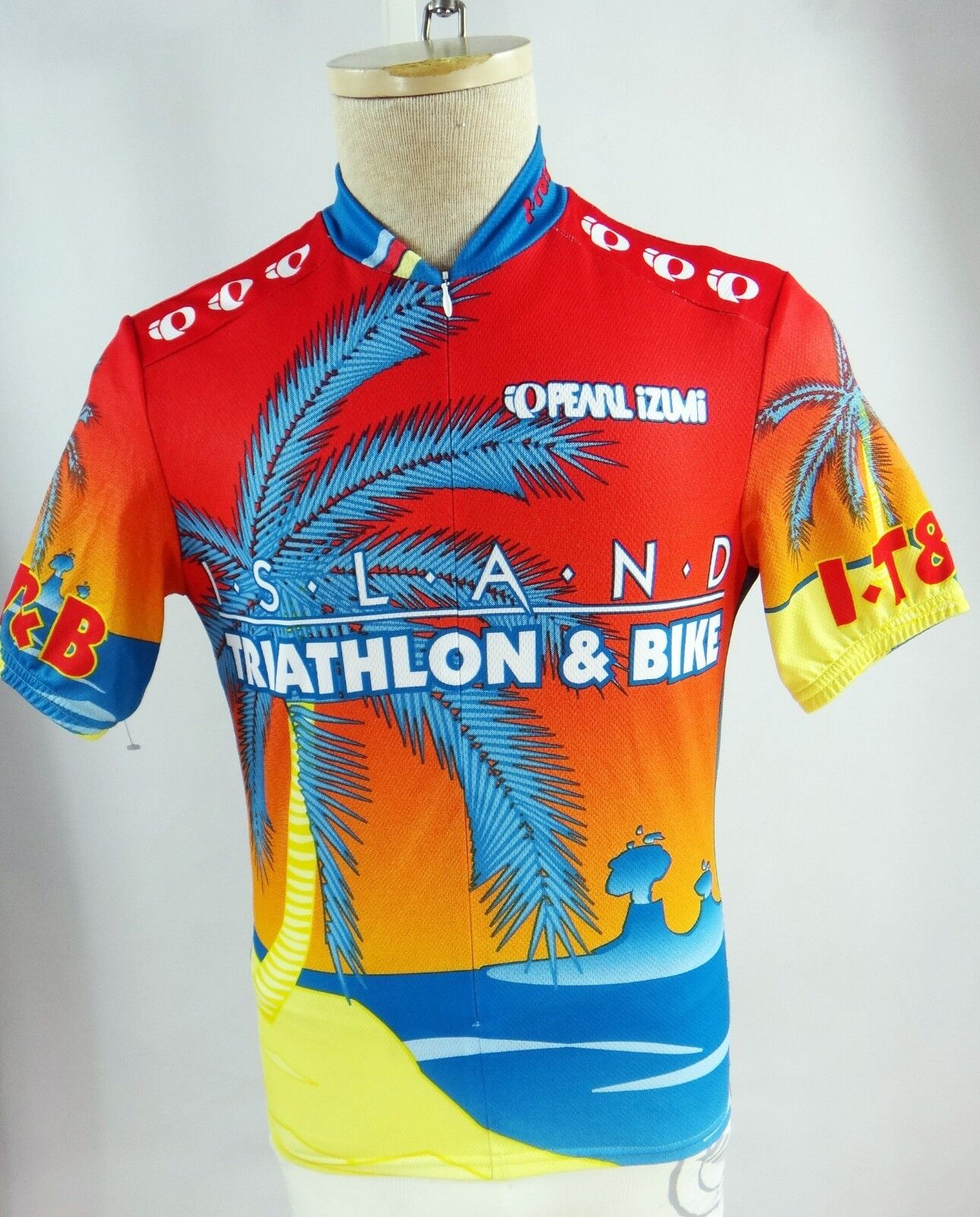 Pearl Izumi HAWAII triathlon papa john pizza small bicycle jersey it&b men