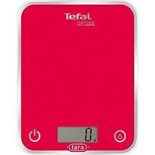 Tefal Optiss BC5003V0 Kitchen Scales 5kg/1g Glass Raspberry Pink