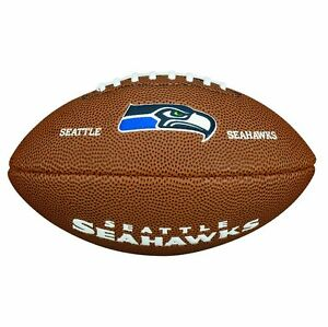 Wilson-Seattle-Seahawks-NFL-Mini-Size-Rubber-American-Logo-Football-Fan-Ball