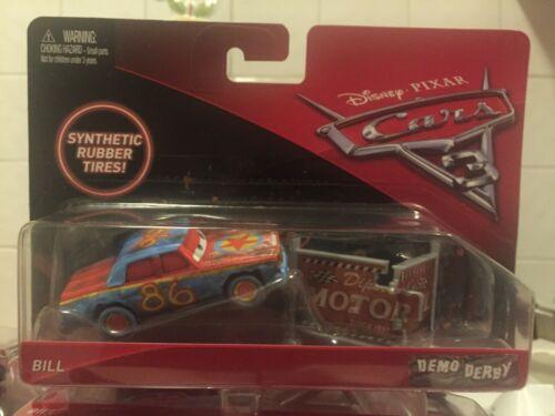 Disney Pixar Cars 3 Demo Derby Bill Rubber Tyres Accessory Mattel 1.55 Scale BNB