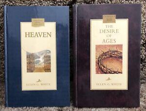 Ellen-G-White-SDA-Book-Duo-Heaven-The-Desire-of-Ages-HB-Adventist-Books