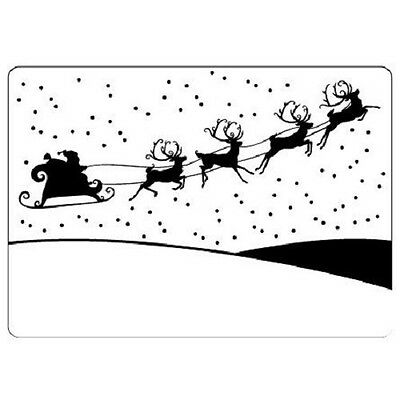 Crafts Too A6 Embossing Folder SLEIGH CTFD4011
