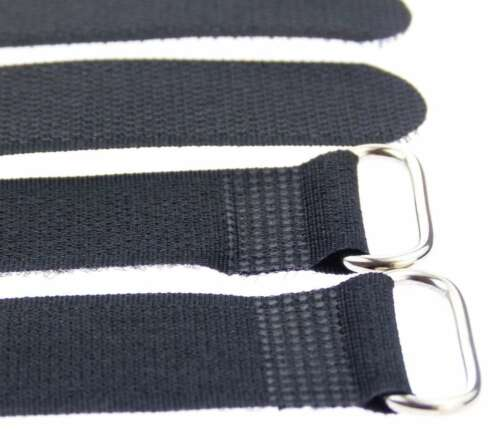 10 x Velcro Cable Ties 300 x 25 MM Black Cable Velcro Cable Velcro Fastening
