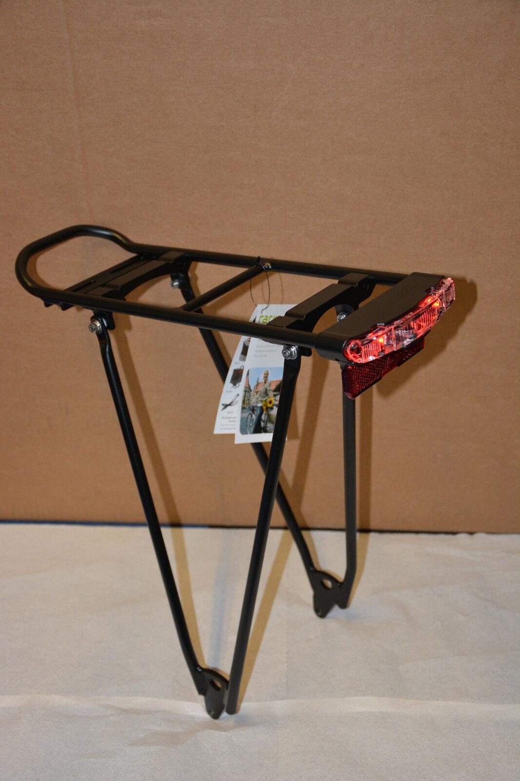 Racktime Fold-it fix shine mit Rücklicht Standlicht snap-it 28 28 28  schwarz Sondermo 3f5dd0