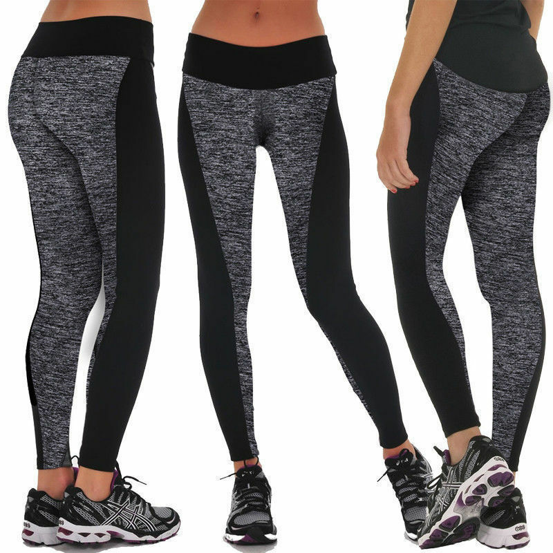 Womens Leggings Yoga Sports Athletic Fitness Stretch