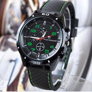 746-Elegant-montre-Homme-Cadran-Noir-Or-Inox-Acier-Date-Quartz-inoxydable