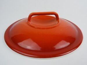 Cast-Iron-Enamel-Red-Orange-Replacement-Lid-7-3-4-034-Diameter-w-Handle