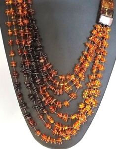 VINTAGE Cascading Strand of Natural Authentic Baltic AMBER Necklace