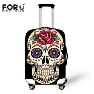 e2d7a53283d8 Details about Luggage Cover 3D Vintage Skull Roses Travel Accessories  Suitcase Protective Case