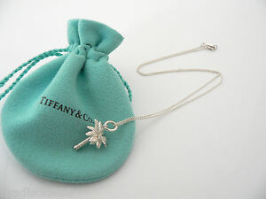 c0ea106ad Tiffany & Co Silver Nature Palm Tree Necklace Pendant Charm Chain ...