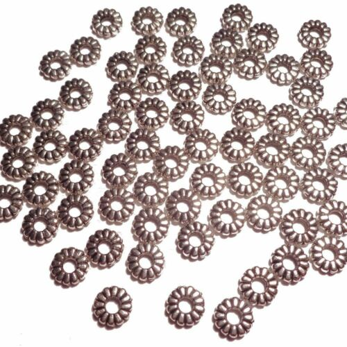 680 Silver Tone-Tiny Petal-shaped-Beads Caps Findings Jewelry Making-5mm
