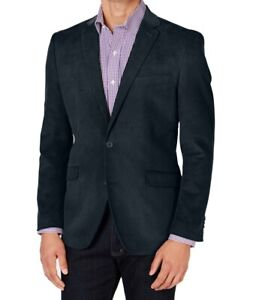 Unlisted Mens Blazer Navy Blue Size 38 Corduroy Two-Button Notched $295 #284