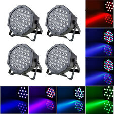 4-Pack Par LED CAN Stage Light by IR Remote Control Party Disco DMX512 Lighting