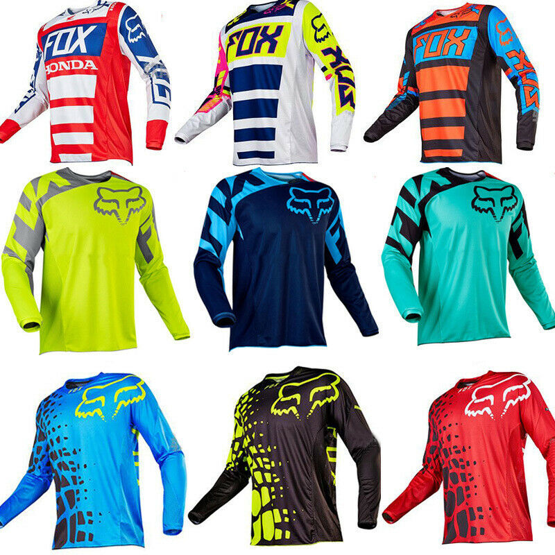 L XL size NEW SRAM Men/'s Long Sleeve Racing Moto Jersey Riding MX MTB Motocross