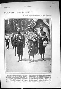 Old-1900-War-Ashanti-Rebel-Chief-Adansi-Africa-Bendemann-Usedom-Cummi-20th