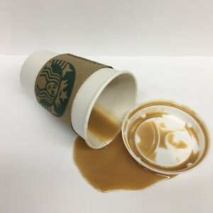 Fake Drink Coffee Starbucks Cup Spill Photo Prop Spilled Handcrafted | eBay