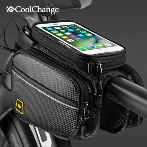 Cycling Bag Bicycle Top Front Frame Pannier Tube Bag Double Pouch Bike Bag