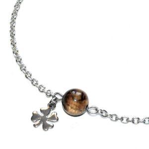 Chaine-bracelet-de-cheville-acier-coul-argent-Oeil-de-tigre-breloque-bijou