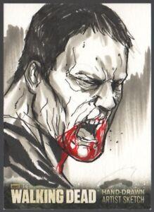 Cryptozoic-The-Walking-Dead-Season-3-Walker-1-1-Sketch-Card-Vince-Sunico