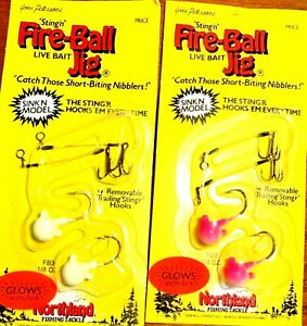 Northland-1-8-oz-Glows-in-the-Dark-Sinking-Fire-Ball-Stinger-Jig-One-Package