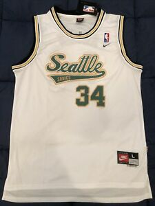 Details about Ray Allen Seattle Supersonics Stitched DRI-FIT NBA Jersey