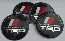 TRD RACING TOYOTA Wheel Hub Caps Badge Emblem Stickers METAL 56.5mm - Set of 4