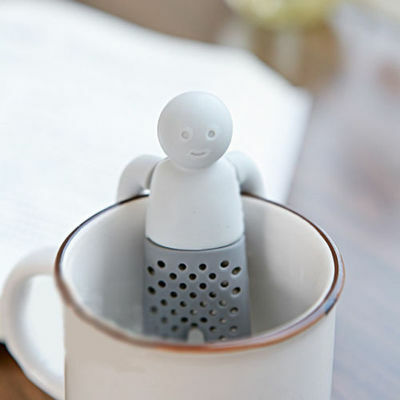 Mini Mr Tea Infuser Leaf Novelty Filter Strainer Coffee Teapot Cute Silicone