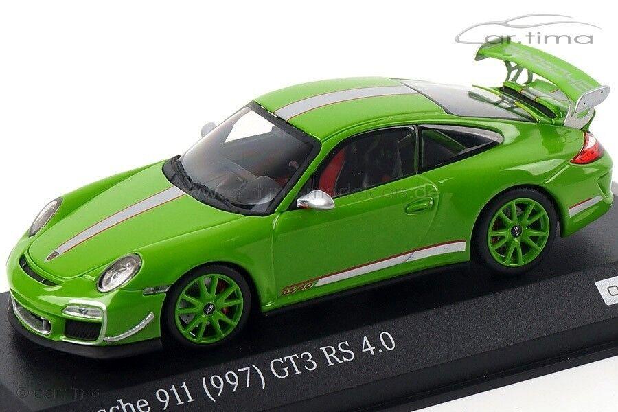 1 43 MINICHAMPS 2011 PORSCHE 911 997 GT3 RS 4.0 amarillo verde LE 100 cartima EXCL