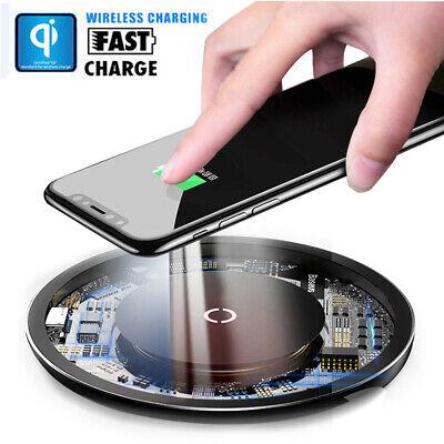 qi wireless charger ladestation ladeger t kabellos induktion f r iphone samsung ebay. Black Bedroom Furniture Sets. Home Design Ideas