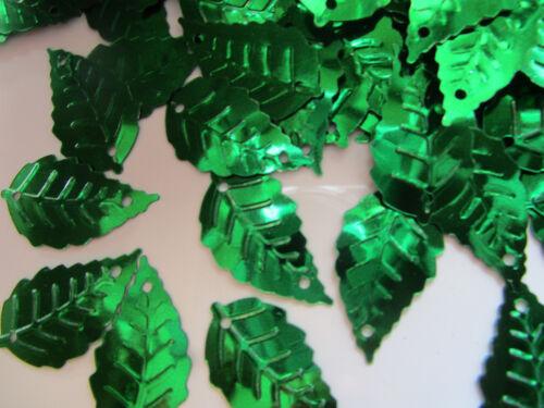 50 Applikation Aufnäher Grün Pailletten elegante Muster Borte Nähen 2,5cm