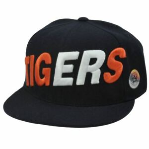d32fd4c5e2a HAT CAP DETROIT TIGERS MLB FLAT BILL FITTED SIZE 7 1 2 NAVY BLUE ...