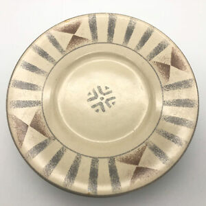Sango-Canyon-4890-Bread-Plate-Tan-Brown-Gray-Geometric-Design-6-3-8-034