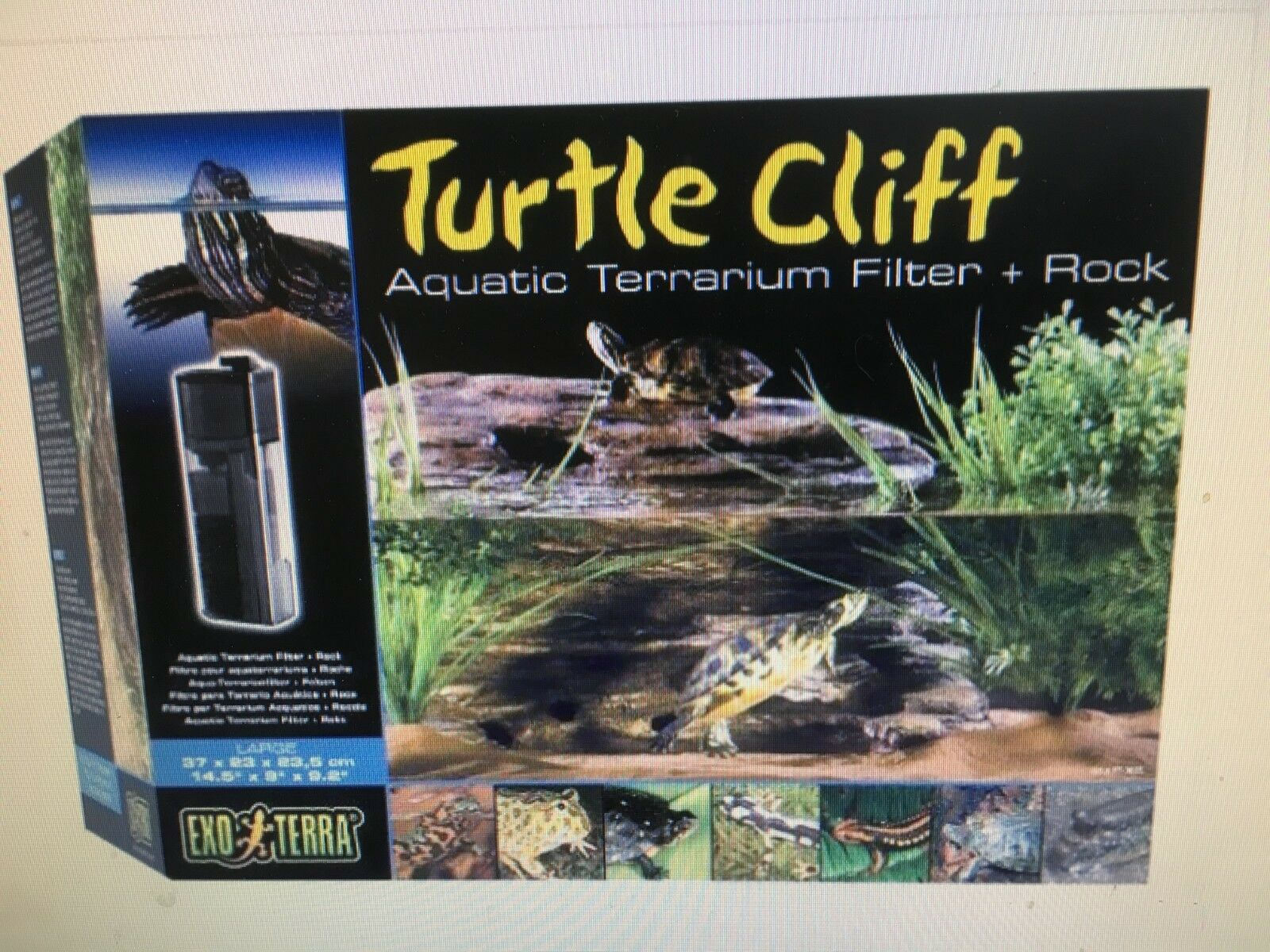 Exo Terra Aquatic Terrarium Turtle Cliff Filter Large Reptile Basking