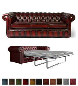 Chesterfield Sofa Bed 3 Seater Genuine