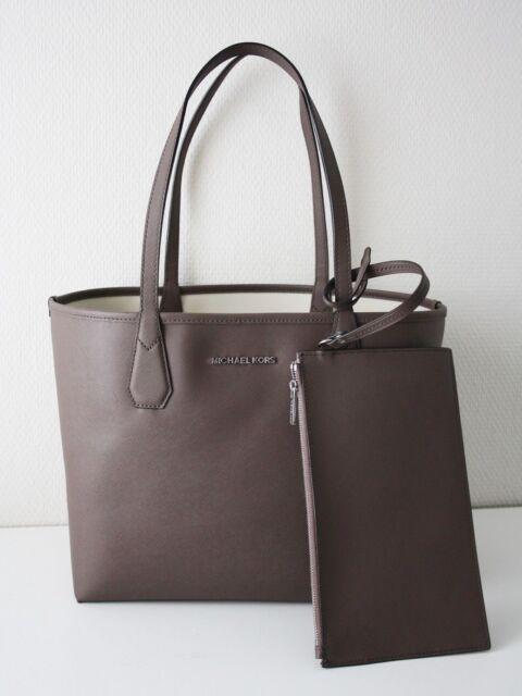 22ed9695d5f2 Michael Kors Bag Shopper Candy Lg Reversible Tote Bag Cinder / Ecru With