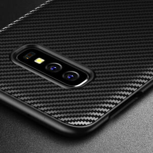 Samsung-Galaxy-S10e-Case-Carbon-Fibre-TPU-Silicone-Best-Protection-Cover-Cases
