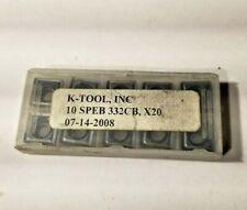 Speb 2522cb X20 K Tool 10 Inserts Factory Pack