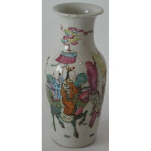 Antique 19th Original Chinese porcelain vase decoration celebration Marked 11 cm