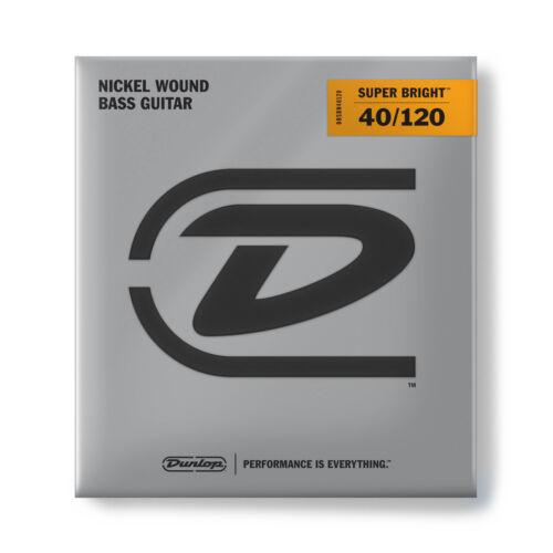 Dunlop DBSBN40120 Super Bright Nickel Bass Guitar Strings Light 5-String Set