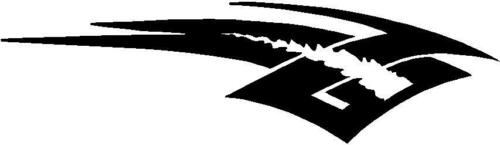 2 x Flame Tank Tribal Motorcycle MotorBike Bike Decal Sticker Vinyl Graphic T040