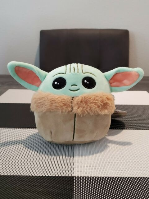 "NEW- 5"" Baby Yoda Star Wars Mandalorian Squishmallow- Plush Pillow- Kelly Toys"