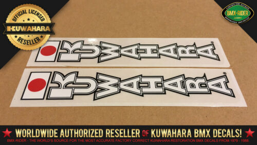 1983-1985 Kuwahara /'FORK/' Vintage BMX Decal Sticker KZ Laserlite forks White
