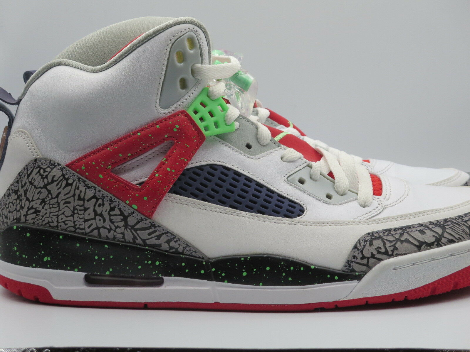 Nike Air Jordan Spizike WHITE POISON GREEN CEMENT Retro Sneakers shoes Size 11.5