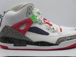 4fa0575e241135 Nike Air Jordan Spizike WHITE POISON GREEN CEMENT Retro Sneakers ...