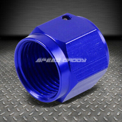 Blue 12AN Aluminum Anodize Finish Female to Female Flare Tube Nut Cap Plug Fuel Fitting Adapter AN-12