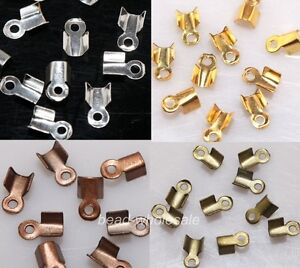 Wholesale-500PCS-Fold-Over-End-Cord-Findings-Diy-Crimp-Bead-Cap-6-9mm