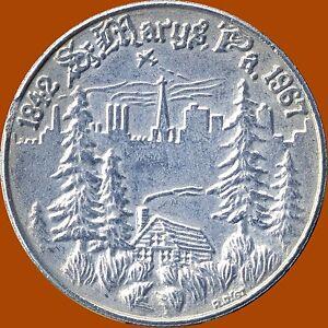 1967-St-Mary-039-s-Pennsylvania-125th-1842-1967-14-Grams-35-mm-Diameter