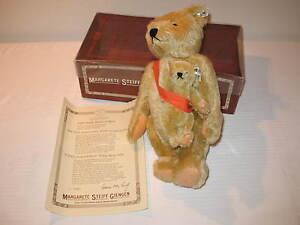 "1981 STEIFF 14"" MAMA & BABY bear 381/8000 LIMITED EDITION BOX 101st anniversary"