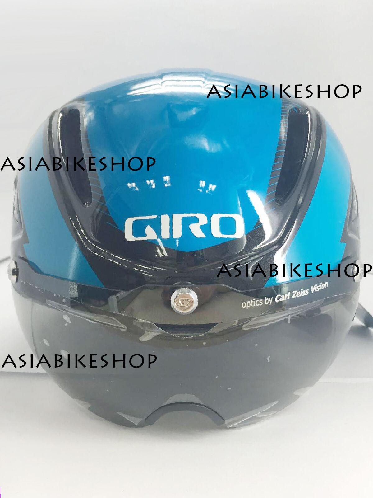 Casco de escudo de ataque GIRO 2015 AIR Azul Negro Mediano Nuevo 7054612 W