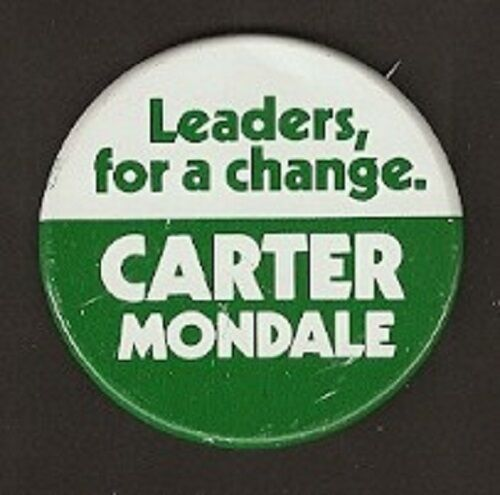 Carter Mondale Leaders For Change Campaign Button